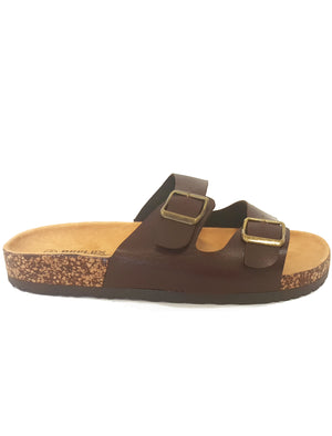 Mens Jex Double Strap Sandals in Brown