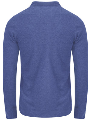 Lake Nevada Long Sleeve Polo Shirt in Cornflower Blue Marl – Tokyo Laundry