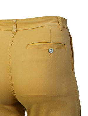 Roberto Cotton Twill 3/4 Length Shorts in Sand - Tokyo Laundry