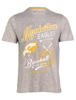 South Shore Baseball Crew Neck T-shirt in grey