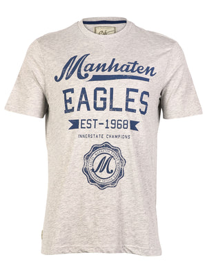 South Shore Manhattan Eagles Cotton T-shirt in grey
