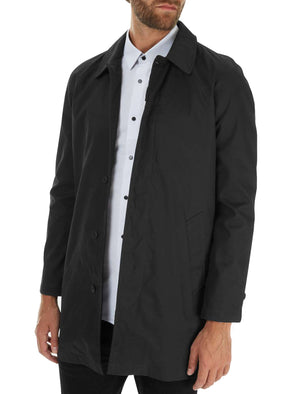 Peter Lightweight Mac Trench Coat in Black