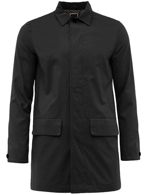 Stuart Mac Trench Coat with Pockets In Black
