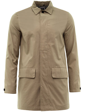 Stuart Mac Trench Coat with Pockets In Stone