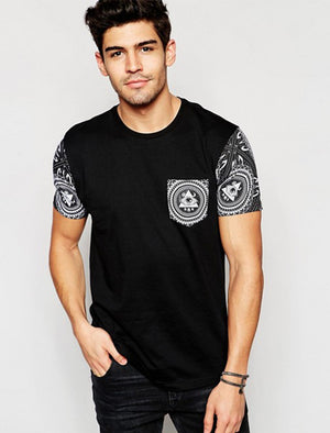 Cooper Illuminati Print Short Sleeve T-Shirt in Black