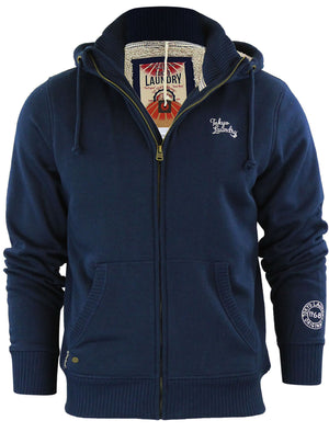 Kinoosao Borg Lined Hoodie in Midnight Blue - Tokyo Laundry