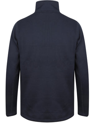 Douglas Textured Fleece Lined Pullover In Midnight Blue - Northern Expo