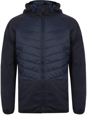 Manning Quilted Panel Jacket with Hood In Midnight Blue – Northern Expo