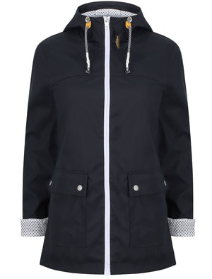 Puffin Shower Resistant Hooded Rain Coat in Navy Blazer – Northern Expo