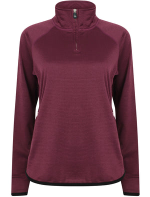 Lillian Jacquard Polar Fleece Pullover Sweatshirt In Dark Purple – Northern Expo