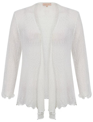 Plum Tree white cardigan