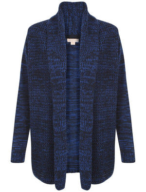 Plum Tree Oak Cardigan in Navy Blue & Turkish Sea
