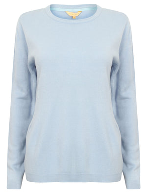 PT Obama Crew Neck Knit Jumper in Sky Blue - Plum Tree