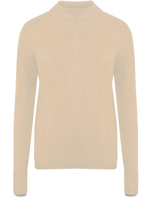 Ramsay Turtle Neck Cashmillon Knitted Jumper in Clotted Cream - Plum Tree