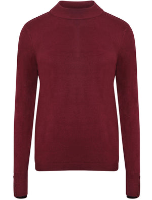 Ramsay Turtle Neck Cashmillon Knitted Jumper in Wild Berry - Plum Tree