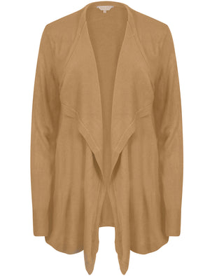 Rubens Waterfall Cardigan In Warm Sand - Plum Tree
