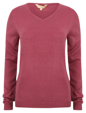 Scully V Neck Jumper in Plum – Plum Tree