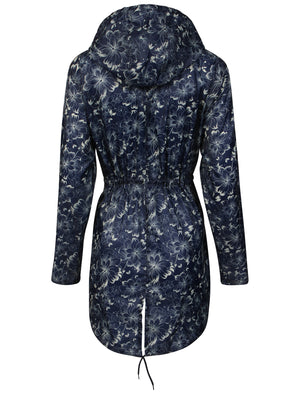 Ella Pac A Mac Lightweight Jacket in Floral Lines Print