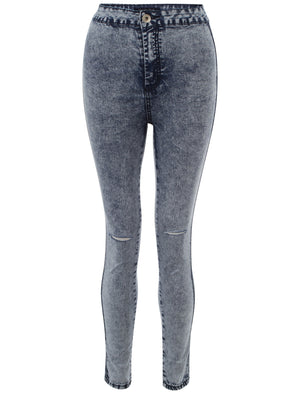 Marissa acid wash high waisted skinny jeans