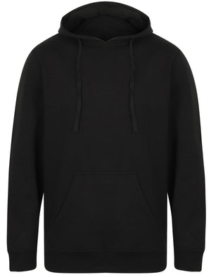 Ryker Brush Back Fleece Basic Pullover Hoodie In Black
