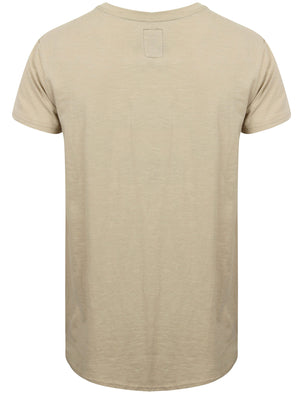 St Abran Longline Cotton T-Shirt with Rips in Silver Cloud - Saint & Sinner