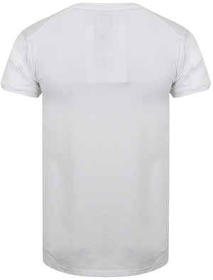 St Berno Longline T-Shirt with Sleeve Panels in Optic White – Saint & Sinner