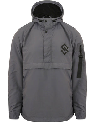 St Chalons Pullover Windbreaker Jacket in Greyward - Saint & Sinner