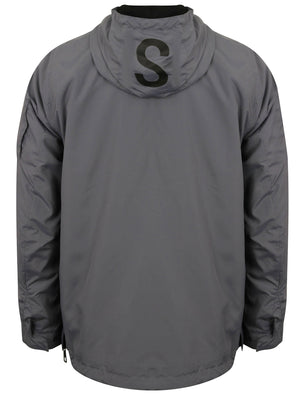 St Chalons Pullover Windbreaker Jacket in Greyward – Saint & Sinner