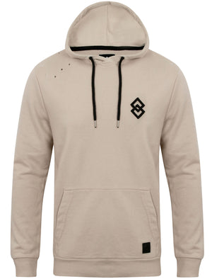 St Dismas Pullover Hoodie with Rips in Silver Cloud – Saint & Sinner