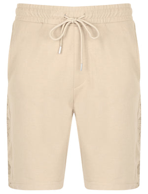 St Harison Jogger Shorts with Rose Embroidery In Sand – Saint & Sinner