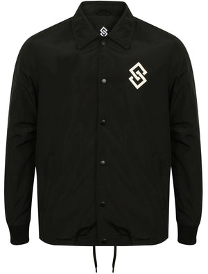 St Jacob Shower Resistant Coach Jacket in Black – Saint & Sinner