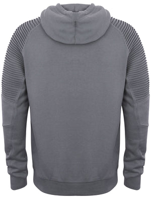 St Oda Ribbed Panel Pullover Hoodie in Greyward – Saint & Sinner