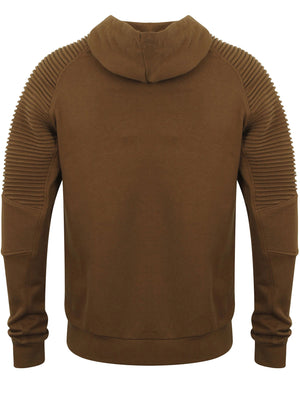 St Oda Ribbed Panel Pullover Hoodie in Teak – Saint & Sinner