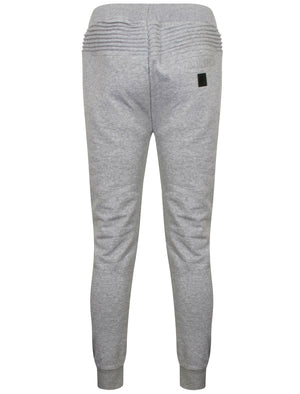 St Padre Ribbed Panel Cuffed Joggers in Light Grey Marl – Saint & Sinner