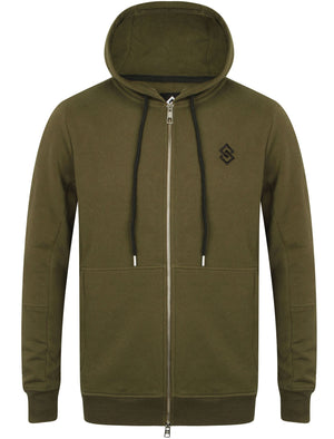 St Odell Zip Through Hoodie in Khaki –Saint & Sinner