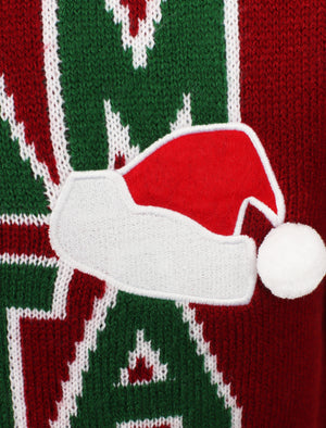 Team Santa Novelty Christmas Jumper In Red – Season's Greetings