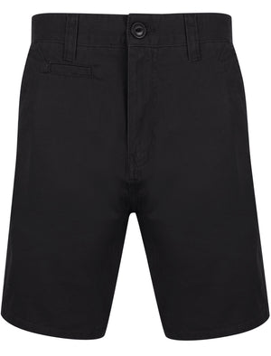 Billy's Bay Cotton Twill Chino Shorts with Peach Finish In Jet Black – South Shore