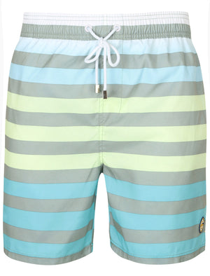 Homestead Striped Swim Shorts In Wrought Iron - South Shore