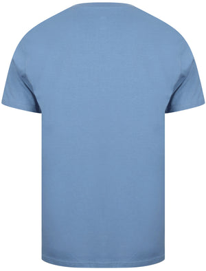 Kinsley Basic Cotton Crew Neck T-Shirt In Federal Blue - South Shore