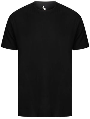 Kinsley Basic Cotton Crew Neck T-Shirt In Jet Black - South Shore
