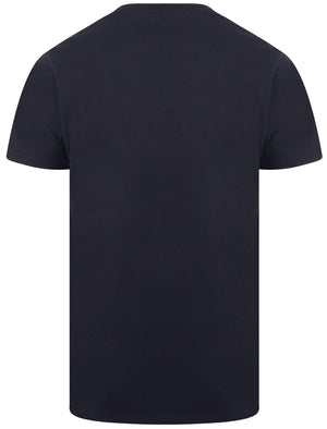 Kinsley Basic Cotton Crew Neck T-Shirt In Navy - South Shore