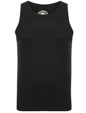 Mace Cotton Ribbed Vest Top In Black – South Shore