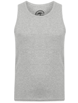 Mace Cotton Ribbed Vest Top In Light Grey Marl – South Shore