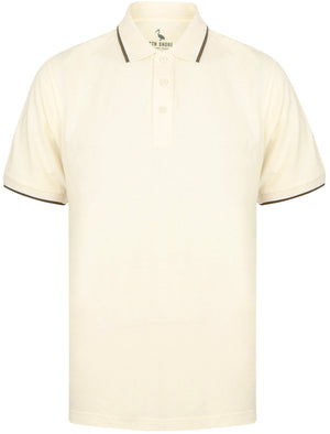 Osten Basic Cotton Pique Polo Shirt With Tipping in Corn Field – South Shore
