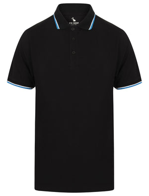 Osten Basic Cotton Pique Polo Shirt With Tipping in Jet Black – South Shore