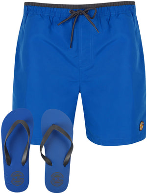 Pembroke Swim Shorts In Turkish Sea With Free Matching Flip Flops – South Shore
