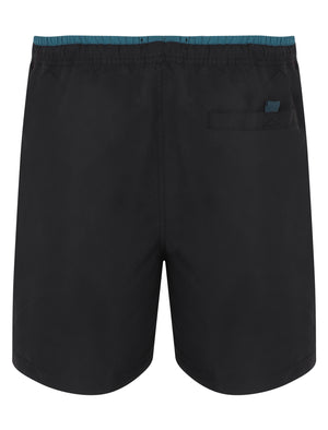 Pembroke Swim Shorts In Jet Black With Free Matching Flip Flops - South Shore