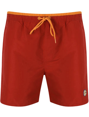 Pembroke Swim Shorts In Rio Red With Free Matching Flip Flops - South Shore
