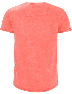 Eureka Burn Out Short Sleeve T-Shirt in Coral