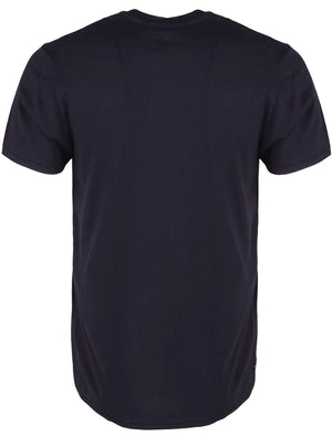 Ripon Cotton T-Shirt with Drawstrings and Chest Pocket in Navy